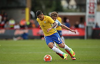 Guilherme Arana of Brazil in action during the International match between England U20 and Brazil U20 at the Aggborough Stadium, Kidderminster, England on 4 September 2016. Photo by Andy Rowland / PRiME Media Images.