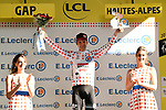Tim Wellens (BEL) Lotto-Soudal retains the mountains Polka Dot Jersey at the end of Stage 17 of the 2019 Tour de France running 200km from Pont du Gard to Gap, France. 24th July 2019.<br /> Picture: ASO/Alex Broadway | Cyclefile<br /> All photos usage must carry mandatory copyright credit (© Cyclefile | ASO/Alex Broadway)