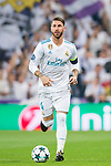 Sergio Ramos of Real Madrid in action during the UEFA Champions League 2017-18 match between Real Madrid and APOEL FC at Estadio Santiago Bernabeu on 13 September 2017 in Madrid, Spain. Photo by Diego Gonzalez / Power Sport Images