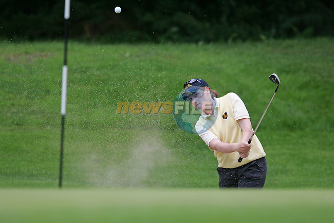 Leinster Maura Morrin playing out of the bunker buring the Ladies Interprovincial Matches 2006 in Headford Golf Club in Co Meath..Photo NEWSFILE/FRAN CAFFREY..(Photo credit should read FRAN CAFFREY/NEWSFILE)...This Picture has been sent you under the condtions enclosed by:.Newsfile Ltd..the Studio,.Millmount Abbey,.Drogheda,.Co Meath..Ireland..Tel: +353(0)41-9871240.Fax: +353(0)41-9871260.GSM: +353(0)86-2500958.email: pictures@newsfile.ie.www.newsfile.ie.FTP: 193.120.102.198..This picture is from Fran Caffrey@newsfile.ie
