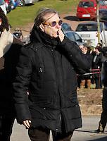Nino D'angelo partecipa ai funerali  di  Pino Daniele al santuario del divino amore di Roma