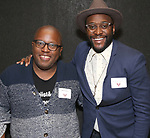Michael R. Jackson and Douglas Lyons  during the Vineyard Theatre's Emerging Artists Luncheon honoring Charly Evon Simpson with the Paula Vogel Playwriting Award at the National Arts Club on November 25, 2019 in New York City.
