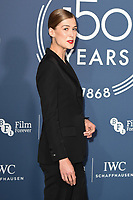 LONDON, UK. October 09, 2018: Rosamund Pike arriving for the 2018 IWC Schaffhausen Gala Dinner in Honour of the BFI at the Electric Light Station, London.<br /> Picture: Steve Vas/Featureflash