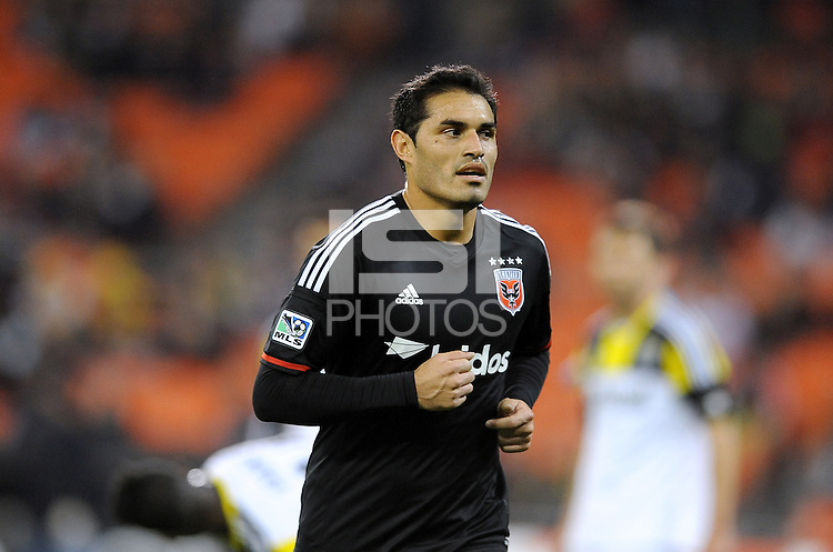 Washington D.C. - March 8, 2014: Fabian Espindola (9) of D.C. United. The Columbus Crew defeated D.C. United 3-0 during the opening game of the 2014 season at RFK Stadium.
