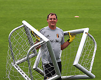 20200627 - TUBIZE , Belgium : Goal keeper coach Frank Verwimp is pictured during a training session of the Belgian Red Flames U17, on the 27 th of June 2020 in Tubize.  PHOTO SEVIL OKTEM| SPORTPIX.BE