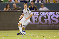 LA Galaxy rookie midfielder Michael Stephens (26) looking down field for a teammate to pass off to. The LA Galaxy and the San Jose Earthquakes played to a 2-2 draw at Home Depot Center stadium in Carson, California on Thursday July 22, 2010.