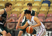 Action from the SAS Secondary Schools National Basketball Championships AA boys pool match between Westlake Boys' High School and Rangitoto College at Arena Manawatu in Palmerston North, New Zealand on Wednesday, 28 September 2016. Photo: Dave Lintott / lintottphoto.co.nz