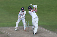Matthew Lamb in batting action for Warwickshire as Aaron Beard looks on from behind the stumps during Warwickshire CCC vs Essex CCC, Specsavers County Championship Division 1 Cricket at Edgbaston Stadium on 11th September 2019