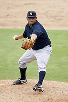 July 10, 2009:  Relief Pitcher Julian Arballo (66) of the GCL Yankees delivers a pitch during a game at Bright House Networks Field in Clearwater, FL.  The GCL Yankees are the Gulf Coast Rookie League affiliate of the New York Yankees.  Photo By Mike Janes/Four Seam Images