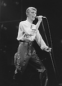 David Bowie - performing live on The Isolar II - The 1978 World  Tour at the Pavillion in Paris France - 24 May 1978.  Photo credit: Rancurel / Dalle/IconicPix
