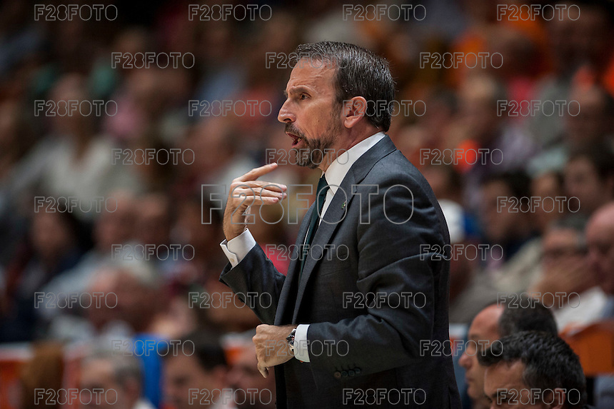 VALENCIA, SPAIN - MARCH 27: Joan Plaza during ENDESA LEAGUE Play Off match between Valencia Basket Club and Unicaja at Fonteta Stadium on March, 2016 in Valencia, Spain
