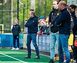 BLOEMENDAAL - coach Michel van den Heuvel (Bldaal).  tijdens de hoofdklasse competitiewedstrijd hockey heren,  Bloemendaal-Den Bosch (2-1). COPYRIGHT KOEN SUYK