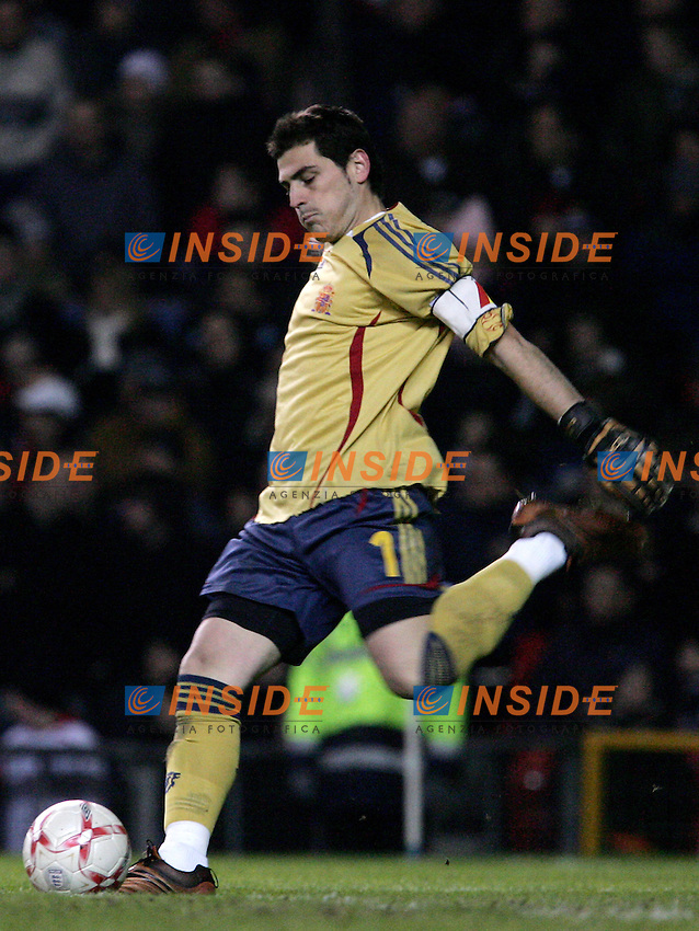 Spain's Iker Casillas during a friendly match at Old Trafford in Manchester, Wednesday February 07, 2007. (INSIDE/ALTERPHOTOS/Alvaro Hernandez).