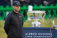 Lucas Bjerregaard (DEN) winner of the Alfred Dunhill Links Championship at Old Course St. Andrew's, Fife, Scotland. 07/10/2018.<br /> Picture Thos Caffrey / Golffile.ie<br /> <br /> All photo usage must carry mandatory copyright credit (&copy; Golffile | Thos Caffrey)