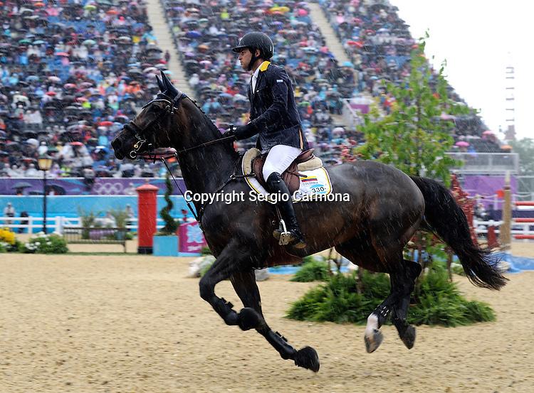 Olympic Games 2012; Equestrian - Venue: Greenwich Park. Daniel Bluman (COL).Horse: Sancha.