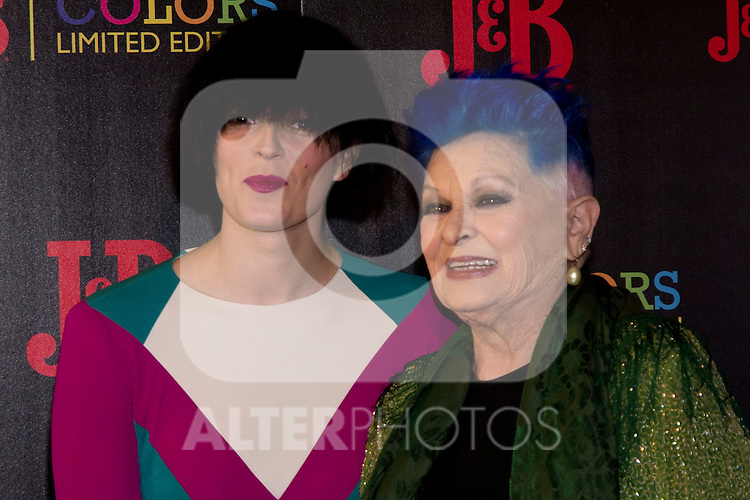26.04.2012.  J & B Colors Presentation at the Hotel Jardines of Sabatini Parking in Madrid. In the image Bimba Bose and Lucia Bose (Alterphotos/Marta González)