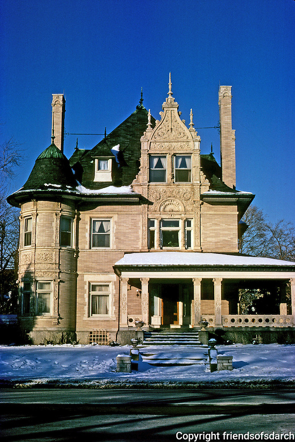 St. Louis: House, 1215 Lindell. West end. Photo '78.
