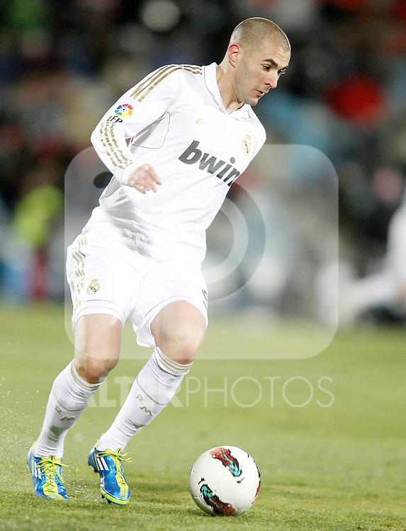 Real Madrid's Karim Benzema during La Liga match. February 04, 2012. (ALTERPHOTOS/Alvaro Hernandez)
