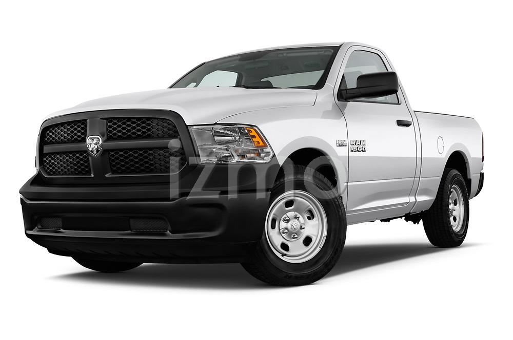 Low aggressive front three quarter view of a <br /> 2013 Dodge Ram 1500 Tradesman Regular Cab