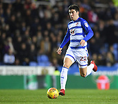 31st October 2017, Madejski Stadium, Reading, England; EFL Championship football, Reading versus Nottingham Forest; Pelle Clement of Reading brings the ball forward