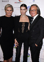 NEW YORK, NY-October 13:Yolanda Hadid, Bella Hadid, Mohamed Hadid at the Global Lyme Alliance's 2016 United For A Lyme-Free World Gala at Cipriani 42nd Street in New York.October 13, 2016. Credit:RW/IMerdiaPunch
