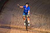 7th February 2019, Melbourne Arena, Melbourne, Australia; Six Day Melbourne Cycling; Annette Edmonson of Australia celebrates her elimination race win