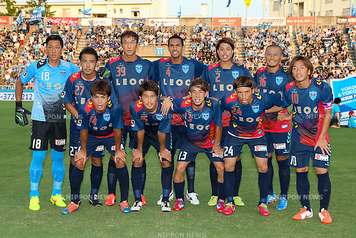 FC/Yokohama FC team group line-up, <br /> JULY 26, 2014 - Football /Soccer : <br /> 2014 J.LEAGUE Division 2 <br /> between Yokohama FC 4-0 Jubilo Iwata <br /> at NHK Spring Mitsuzawa Football Stadium, Kanagawa, Japan. <br /> (Photo by AFLO SPORT) [1205]