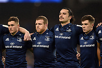 Leinster Rugby players look on prior to kick off. Heineken Champions Cup match, between Leinster Rugby and Bath Rugby on December 15, 2018 at the Aviva Stadium in Dublin, Republic of Ireland. Photo by: Patrick Khachfe / Onside Images