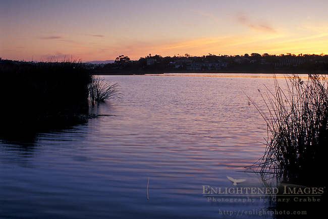 Sunrise light over Buena Vista Lagoon,?Carlsbad, San Diego County, CALIFORNIA