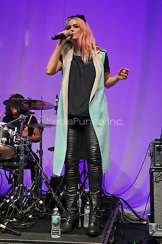 MIAMI BEACH, FL - JULY 29: Debby Ryan performs at the Fillmore on July 29, 2015 in Miami Beach, Florida. Credit: mpi04/MediaPunch