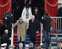 Congressman John Dingell (D-MI) left, leads the House of Representatives in for President Barack Obama to sworn-in for a second term as the President of the United States by Supreme Court Chief Justice John Roberts during his public inauguration ceremony at the U.S. Capitol Building in Washington, D.C. on January 21, 2013. Photo Credit: Pat Benic/CNP/AdMedia
