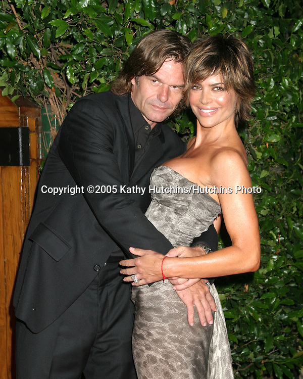 Harry Hamlin.Lisa Rinna.Hollyrod Designcure.featuring Pamela Dennis and her designs.at the home of Sugar Ray Leonard and family.Pacific Palisaides, CA.July 9, 2005.©2005 Kathy Hutchins / Hutchins Photo