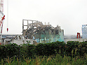 September 15, 2011, Okumamachi, Japan - The heavily damaged Unit 3 reactor building is seen at Fukushima No. 1 nuclear power plant in Okumamachi, Fukushima Prefecture, some 210km northeast of Tokyo, on Thursday, September 15, 2011. The photo was released by the plant operator Tokyo Electric Power Co., in Tokyo on September 17. (Photo by TEPCO/AFLO) [0006] -mis-