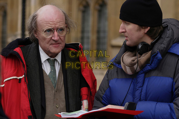 JIM BROADBENT & TOM HOOPER (DIRECTOR).on the set of Longford .**Editorial Use Only**.CAP/FB.Supplied by Capital Pictures