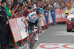 Miguel Angel Lopez Moreno (COL) Astana Pro Team crosses the finish line at the end of Stage 19 of the La Vuelta 2018, running 154.4km from Lleida to Andorra, Naturlandia, Andorra. 14th September 2018.                   <br /> Picture: Colin Flockton | Cyclefile<br /> <br /> <br /> All photos usage must carry mandatory copyright credit (© Cyclefile | Colin Flockton)