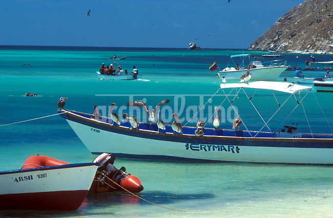 Archipielago de Los Roques en el mar Caribe, uno de los destinos turisticos mas buscado por quienes quieren disfrutar de sus cayos y playas + turismo * Los Roques islands, one of the main touristic destinados of Venezuela. Thousands of tourists visit the islands seeking for beach, clear water, cays and relax +tourism *L'archipel de Los Roques. +tourisme, paysage, mers, plages, récifs, océans, îles