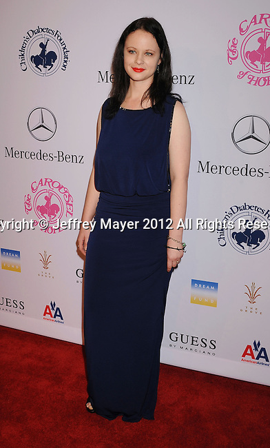 BEVERLY HILLS, CA - OCTOBER 20: Thora Birch arrives at the 26th Anniversary Carousel Of Hope Ball presented by Mercedes-Benz at The Beverly Hilton Hotel on October 20, 2012 in Beverly Hills, California.