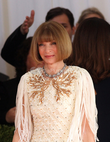 05 02 2016:  Anna Wintour at Manus X Machina: Fashion In An Age of Technology at Metropolitan Museum of Art in New York. Credit:RWMediaPunch