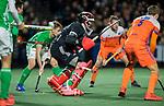 AMSTELVEEN - keeper Dave Harte (IRE)    tijdens de hockeyinterland Nederland-Ierland (7-1) , naar aanloop van het WK hockey in India.  COPYRIGHT KOEN SUYK