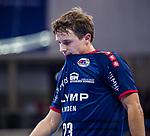 Jan ASMUTH (#23 SG Bietigheim) \ beim Spiel in der Handball Bundesliga, SG BBM Bietigheim - SC DHfK Leipzig.<br /> <br /> Foto &copy; PIX-Sportfotos *** Foto ist honorarpflichtig! *** Auf Anfrage in hoeherer Qualitaet/Aufloesung. Belegexemplar erbeten. Veroeffentlichung ausschliesslich fuer journalistisch-publizistische Zwecke. For editorial use only.