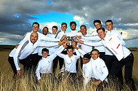 Winners, Team England after Day 3 / singles of the Boys' Home Internationals played at Royal Dornoch Golf Club, Dornoch, Sutherland, Scotland. 09/08/2018<br /> Picture: Golffile | Phil Inglis<br /> <br /> All photo usage must carry mandatory copyright credit (&copy; Golffile | Phil Inglis)
