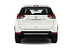 Straight rear view of 2018 Nissan Rogue S 5 Door SUV Rear View  stock images