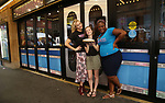 Cast members of 'Waitress' Betsy Wolfe, Caitlin Houlahan and Charity Angel Dawson attend the Welcome to Joe's Pie Diner at Brooks Atkinson on June 13, 2017 in New York City.