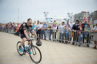 Chris Froome (GBR/SKY) to the start<br /> <br /> 2014 Tour de France<br /> stage 4: Le Touquet-Paris-Plage/Lille M&eacute;tropole (163km)