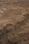 Israel, Judean desert, remains of the Roman camp F west of Masada