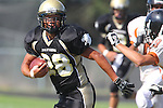 Palos Verdes, CA 09/22/11 - Issac Kuo (Peninsula #28)) in action during the Beverly Hills-Peninsula Varsitty Football gane.) in action during the Beverly Hills-Peninsula Varsitty Football gane.