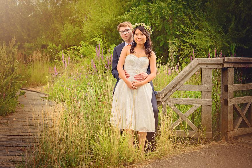 Summer Wedding Photo shoot at the London Wetland Centre