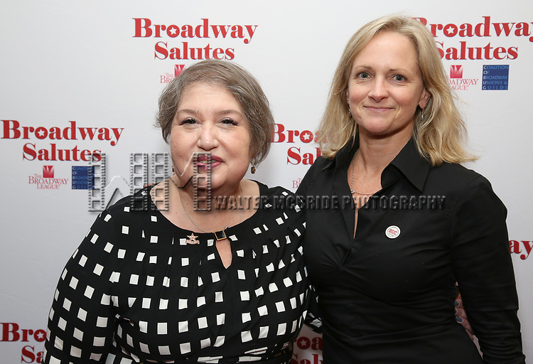 Suzanne Tobak and Paige Price attends Broadway Salutes 10 Years - 2009-2018 at Sardi's on November 13, 2018 in New York City.