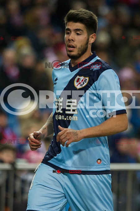 Rayo Vallecano&acute;s Alejandro Pozuelo during 2014-15 La Liga match between Atletico de Madrid and Rayo Vallecano at Vicente Calderon stadium in Madrid, Spain. January 24, 2015. (ALTERPHOTOS/Luis Fernandez) /NortePhoto<br />