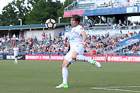 Cary, North Carolina  - Saturday June 03, 2017: Becca Moros during a regular season National Women's Soccer League (NWSL) match between the North Carolina Courage and the FC Kansas City at Sahlen's Stadium at WakeMed Soccer Park. The Courage won the game 2-0.